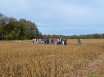 Students head across the field for the Menokin Wildlife Trail.