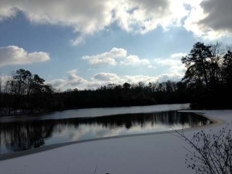 Mount Airy mill pond.