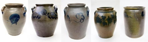 Samples of Ovoid Stoneware jars from Z&K Antiques.
