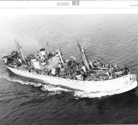 FRANCIS L. LEE (E26) Francis L. Lee on February 3rd 1944 in convoy at position 36°56'N 75°00'E east of Cape Hatteras. Owned by U.S. Department of Commerce and operated by Seas Shipping Co. Inc. under WSA Service Agreement form GAA.