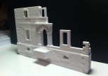 """Test Print of the North Facade of the 3/16"""" House Model."""
