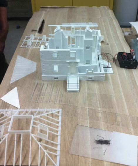 North View of House positioned in the site model base.