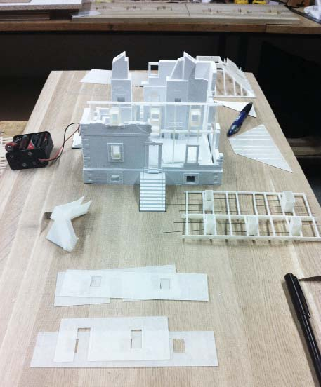 South View of House positioned in the site model base.