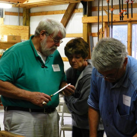Participants were encouraged to bring their own tools in for sharpening.