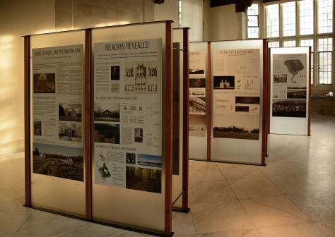 """Ruins, Memory and the Imagination: Menokin Revealed"" runs till April 27 at the Virginia Center for Architecture, 2501 Monument Ave. For information call 644-3041 or visit virginiaarchitecture.org. Photograph and Exhibit Display Design by Forrest French"