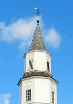 Bruton Parish Church steeple