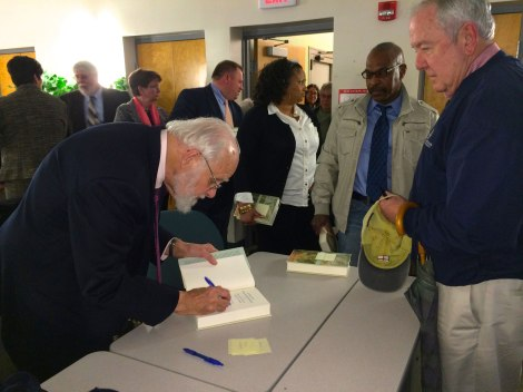 Dr. Dunn was a trooper and signed many, many copies!