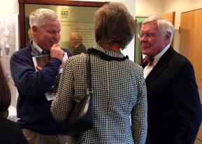 Tayloe Murphy, Foundation President, spoke with Jim Rogers and Beverly Rowland.