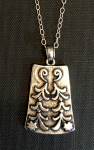 "Pendant is just under 1"" long and includes an 18"" sterling chain."