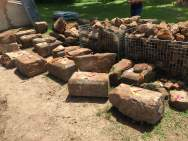 6/23/15 - We've begun to identify some of the major stones original positions in the main house.