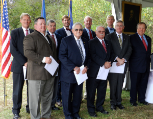 New inductees to the Rappahannock SAR Chapter include: Back row: