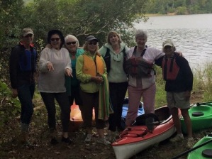 The Kayak Divas take to the water at Menokin's new access point to Cat Point Creek.