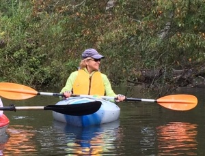 Heading up Cat Point Creek. (All images courtesy of Paddle Master, Lois Spencer.)