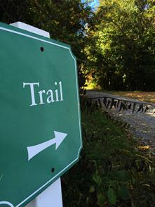 Walk or drive down the trail...