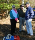 Penelope Saffer (former trustee), Hullie Moore (Treasurer) and Hill Wellford enjoying the day and each other's company.
