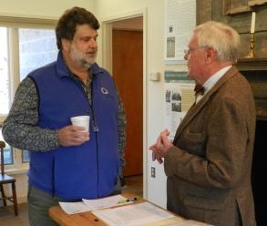 Bob Campbell (NPS) and Menokin President Tayloe Murphy