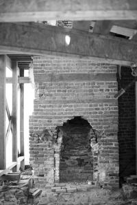 Menokin's brickwork.