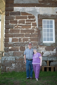 Tom and Liz Thorpe enjoying their trip to Menokin.