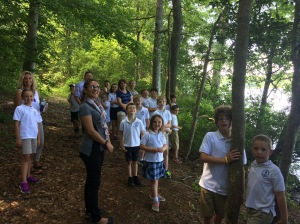 ACDS students hiked to Cat Point Creek on their recent visit to Menokin