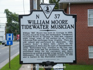 Historic marker in Tappahannock, VA