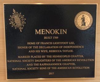 Menokin Marker 2017