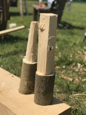 Handmade mallet in progress.